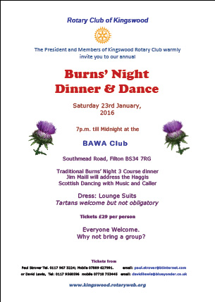 rotary burns night