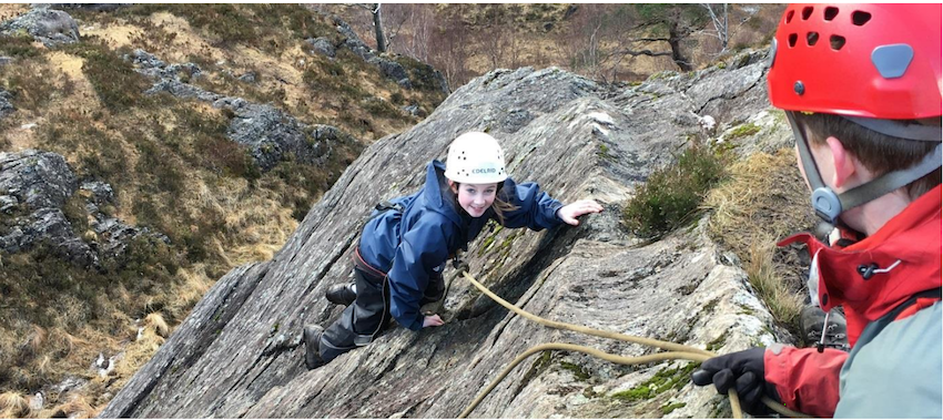 James Hamilton Academy Outward Bound Trust climbing